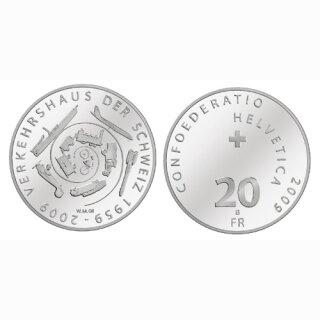 Schweiz 20 Franken 2009 B 50 Jahre Verkehrshaus