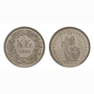 50 Rappen 1986 Schweiz
