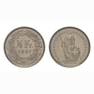 50 Rappen 1987 Schweiz