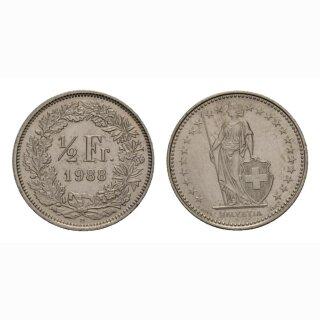50 Rappen 1988 Schweiz