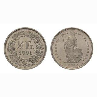 50 Rappen 1991 Schweiz