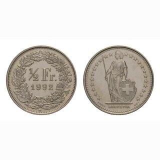 50 Rappen 1992 Schweiz