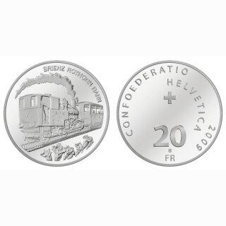 Schweiz 20 Franken 2009 B Brienzer Rothorn Bahn
