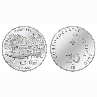 Schweiz 20 Franken 2010 B 100 Jahre Berninabahn