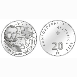 Schweiz 20 Franken 2010 B Henry Dunant