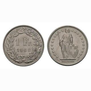 1 Franken 1968 ohne MZ