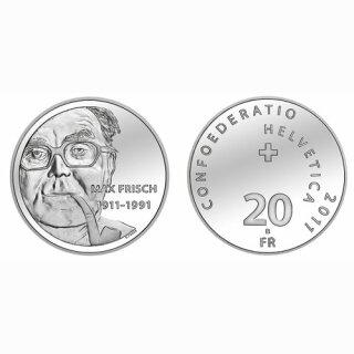 Schweiz 20 Franken 2011 B Max Frisch