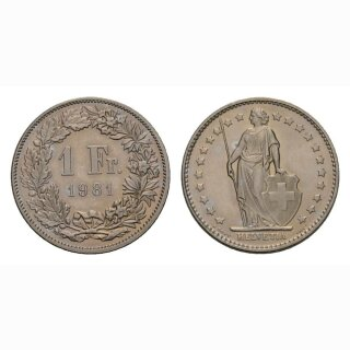 1 Franken 1981 Schweiz