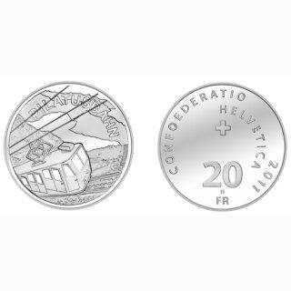 Schweiz 20 Franken 2011 B Pilatusbahn