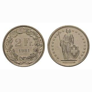 2 Franken 1981 Schweiz
