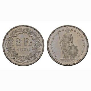 2 Franken 1989 Schweiz