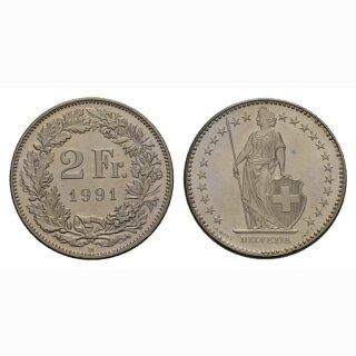 2 Franken 1991 Schweiz