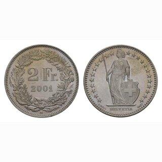 2 Franken 2001 Schweiz