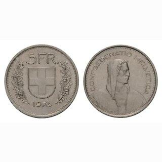 5 Franken 1974 Schweiz