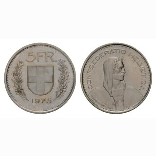 5 Franken 1975 Schweiz