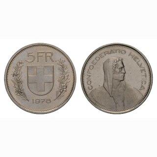 5 Franken 1978 Schweiz