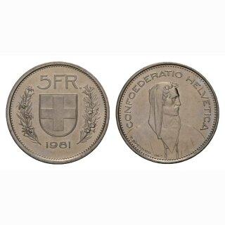 5 Franken 1981 Schweiz