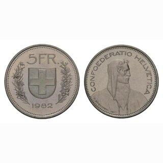 5 Franken 1982 Schweiz