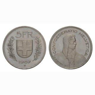 5 Franken 1987 Schweiz