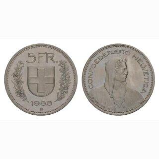 5 Franken 1988 Schweiz