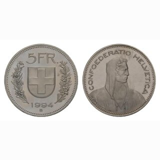 5 Franken 1994 Schweiz