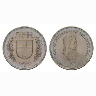5 Franken 1998 Schweiz
