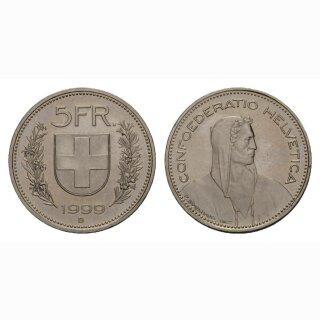 5 Franken 1999 Schweiz