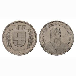 5 Franken 2002 Schweiz