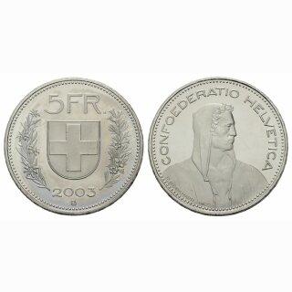 5 Franken 2003 Schweiz