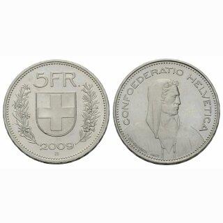 5 Franken 2009 Schweiz