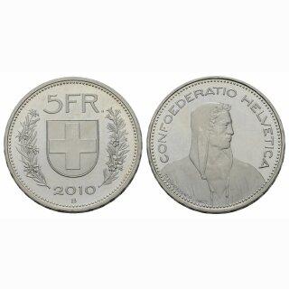5 Franken 2010 Schweiz