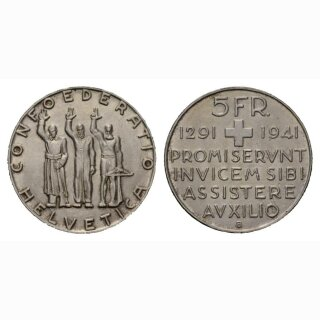 Schweiz 5 Franken 1941 B Rütli