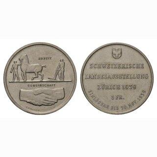 Schweiz 5 Franken 1939 B Landi