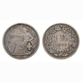 1 Franken 1860 Schweiz