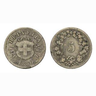 5 Rappen 1850 Schweiz