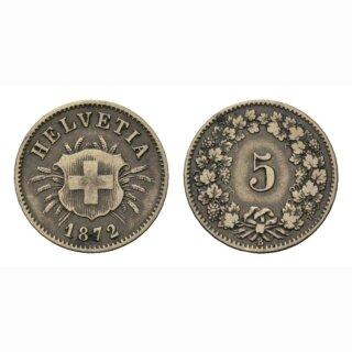 5 Rappen 1872 Schweiz