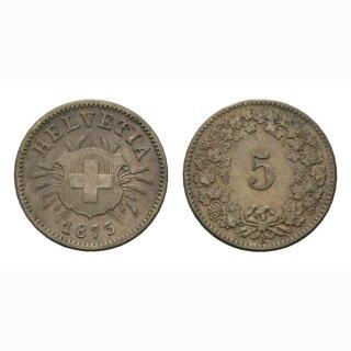 5 Rappen 1873 Schweiz