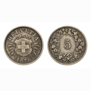 5 Rappen 1876 Schweiz