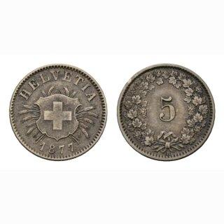 5 Rappen 1877 Schweiz