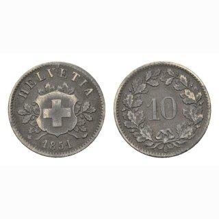 10 Rappen 1851 Schweiz