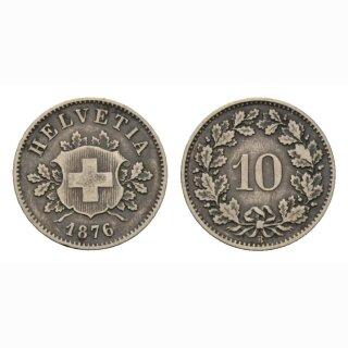 10 Rappen 1876 Schweiz