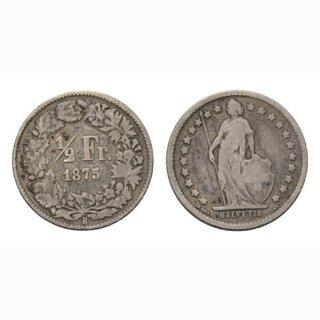 1/2 Franken 1875 Schweiz