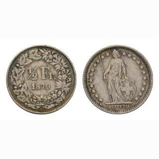 1/2 Franken 1879 Schweiz