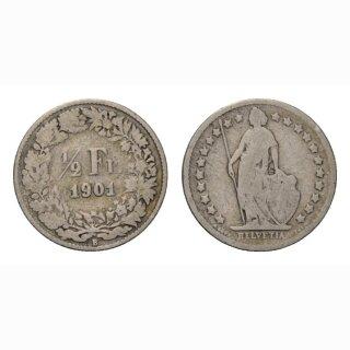 1/2 Franken 1901 Schweiz