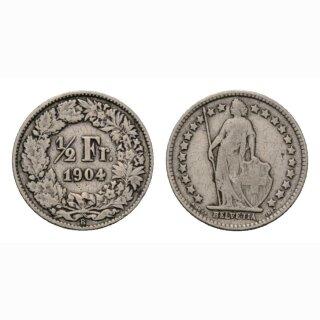1/2 Franken 1904 Schweiz