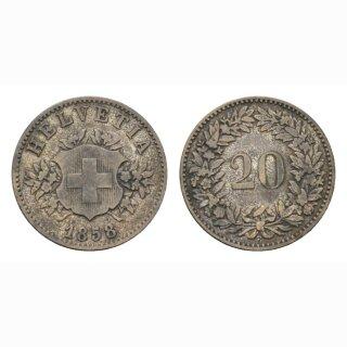 20 Rappen 1858  Schweiz
