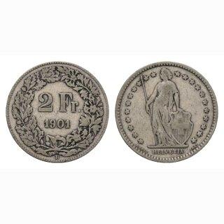 2 Franken 1901 Schweiz