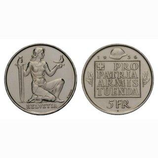 Schweiz 5 Franken 1936 B Pro Patria