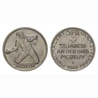 Schweiz 5 Franken 1944 B St. Jakob