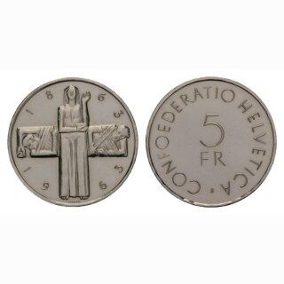 Schweiz 5 Franken 1963 B Rotkreuz
